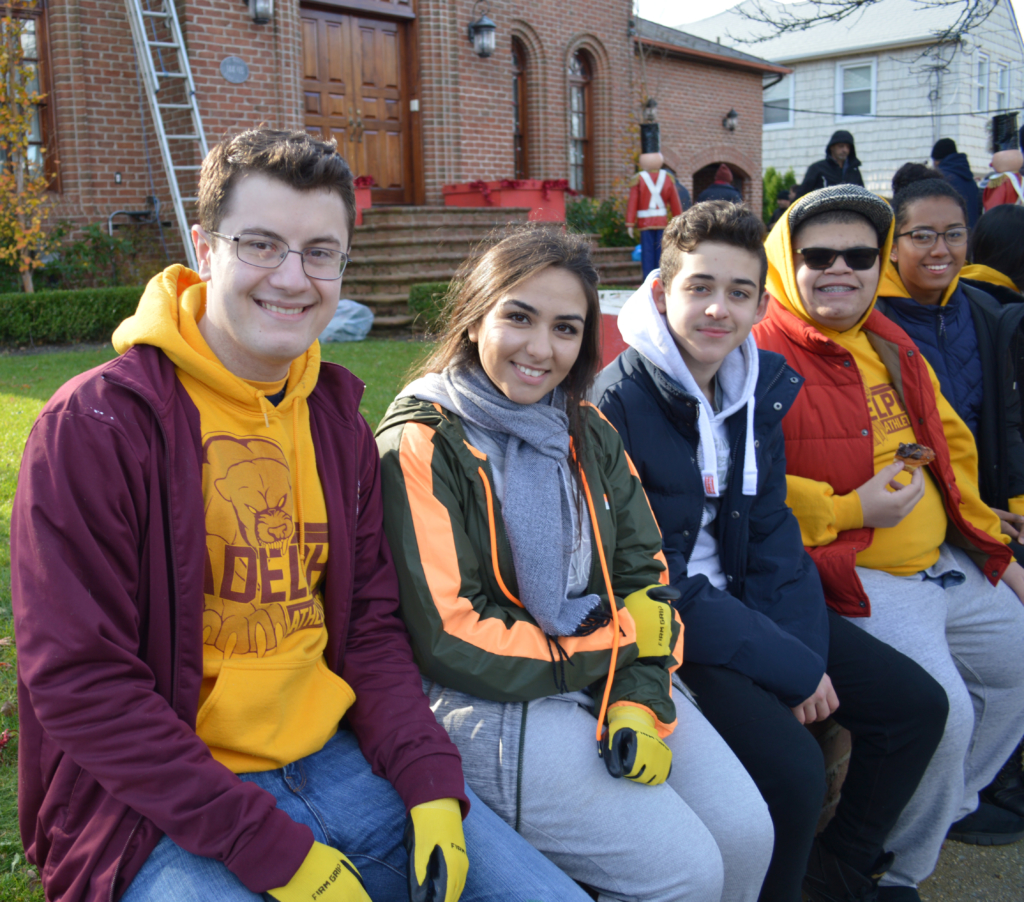 Adelphians enjoyed volunteering to set up the Little North Pole!